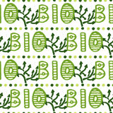 Bio green lettering pattern. Eco seamless Royalty Free Stock Images
