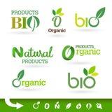 Bio - Groene Ecologie - - Natuurlijke pictogramreeks Royalty-vrije Stock Foto's