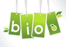 Bio hanging cards. Stock Photos