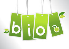 Bio hanging cards. Stock Image