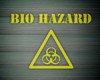 Bio Hazard 01. Yellow bio hazard alert with sign Royalty Free Stock Photo