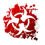 Bio hazard blood Royalty Free Stock Photo