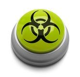 Bio Hazard Button. Green and Black Bio Hazard Button Isolated on White Background Stock Photography