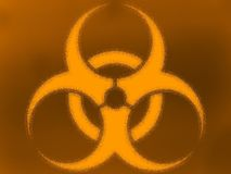 Bio hazard color background Royalty Free Stock Photography