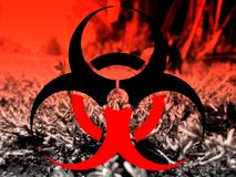 Bio hazard illustration background Royalty Free Stock Image