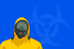 Bio hazard man 03 Stock Photography