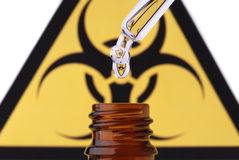Bio hazard pipet drop and bottle Stock Photography