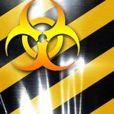 Bio hazard sign on a grunge background Royalty Free Stock Photography