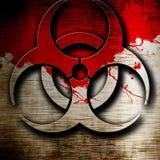 Bio hazard sign on a grunge background Royalty Free Stock Image