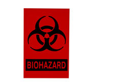 Bio-hazard sign isolated on white stock photography