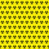 Bio hazard sign pattern Stock Photos