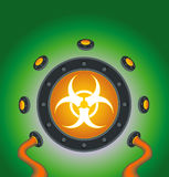 Bio Hazard Symbol Contained Stock Photo