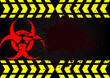 Bio hazard symbol dirty blood Stock Photography