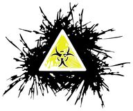 Bio hazard symbol made with spots. The symbol of Bio Hazard in an artistic version on a white background. An idea that can be used in all projects with this Stock Photography
