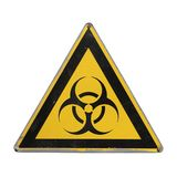 Bio hazard. Yellow triangle. Stock Photography