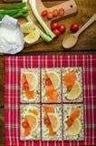 Bio healthy food - kneckebrot Royalty Free Stock Photo