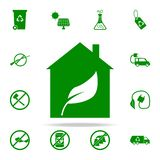 Bio house green icon. greenpeace icons universal set for web and mobile. On white background stock illustration