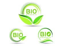 Bio icône de feuille d'Eco Images libres de droits