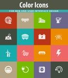 BIO- icone di industria del combustibile messe Immagini Stock Libere da Diritti