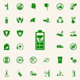 bio icono del verde de la batería sistema universal de los iconos de Greenpeace para el web y el móvil stock de ilustración