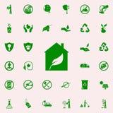 bio icono del verde de la casa sistema universal de los iconos de Greenpeace para el web y el móvil stock de ilustración
