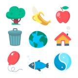 Bio icons Stock Image