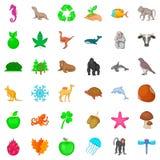 Bio icons set, cartoon style. Bio icons set. Cartoon style of 36 bio vector icons for web isolated on white background Stock Photos