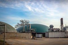 Bio- impianto di gas Fotografie Stock