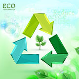 Bio infographics. The illustration of an eco recycle infographic. Vector image Royalty Free Stock Photo