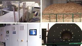 Bio instalación de producción del gas - pantalla multi metrajes