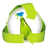 Bio líquido de limpeza amigável ilustração stock