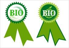 Bio Label. 100 % bio label ilustration on white background Stock Photo