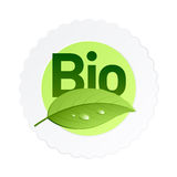 Bio label. Vector illustration of a bio label. Insert your text on white part Royalty Free Stock Photo