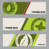 Bio label banner set Stock Photo