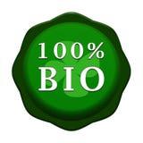 BIO label de 100% illustration stock