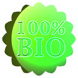 Bio label ou insigne Images stock