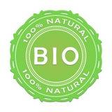 Bio label/100 pour cent de naturel illustration de vecteur