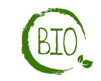 Bio label sain d'aliment biologique et insignes de haute qualité de produit Eco, 100 bio et icône de produit naturel Emblèmes pou illustration libre de droits