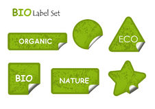 Bio label set. Vector Stock Images