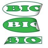 Bio labels Royalty Free Stock Photos