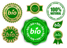 Bio labels. Vector design elements - bio and natural Stock Photography