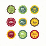Bio Labels Collection Royalty Free Stock Photography