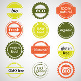 Bio Labels Collection. Eco And Bio Labels Collection Stock Image