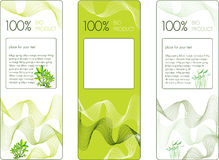 Bio labels de produit Photographie stock