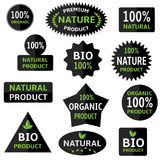 Bio labels Royalty Free Stock Photos