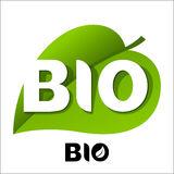 BIO leaf emblem Royalty Free Stock Photos