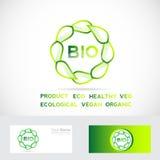 Bio leafs circle logo Stock Image