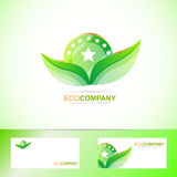 Bio leafs logo Royalty Free Stock Photos