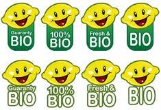 Bio- Lemmon sigilla l'accumulazione Fotografia Stock