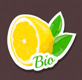 Bio lemon tag Stock Image